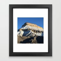 Mt Garfield Dust Framed Art Print