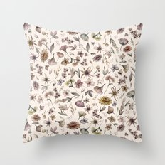 Botanical Study Throw Pillow