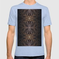 Steampunk Engine Abstract Fractal Art Mens Fitted Tee Athletic Blue SMALL