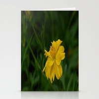 Yellow Summer Flower Stationery Cards