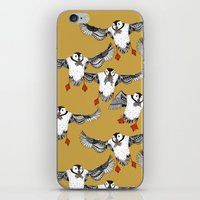 Atlantic Puffins gold iPhone & iPod Skin