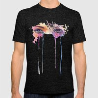 Rainbow Tears Mens Fitted Tee Tri-Black SMALL
