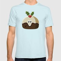 Christmas pudding Mens Fitted Tee Light Blue SMALL