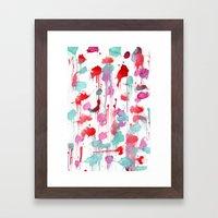 Water Spots Framed Art Print