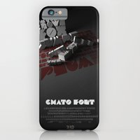 iPhone & iPod Case featuring Chato Font poster by One3rdbird