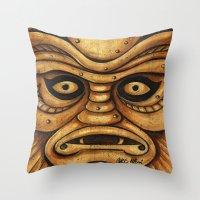 TIKI Creature Throw Pillow