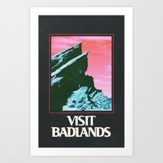 BADLANDS POSTER // HALSE… Art Print