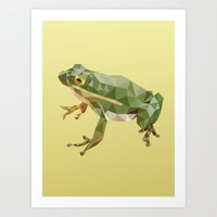 Geometric Frog Art Print