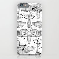 iPhone & iPod Case featuring Spitfire Mk. XIV (black) by One Curious Chip