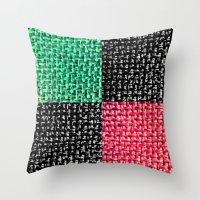 Fabric Colorblock Throw Pillow