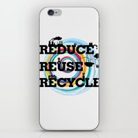 Reduce Reuse Recycle iPhone & iPod Skin