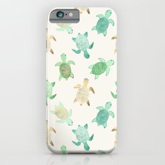 Gilded Jade & Mint Turtles Slim Case iPhone 6s