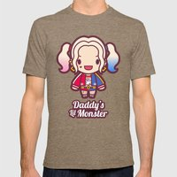 Daddy's Lil Monster Mens Fitted Tee Tri-Coffee SMALL