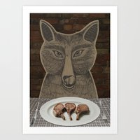 Three Little Pigs Art Print