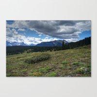 Colorado San Juan Mountain Meadow and Clouds Canvas Print