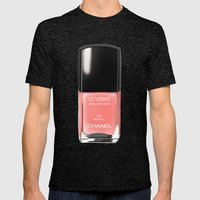 Chanel Nail Polish Mistr… Mens Fitted Tee Tri-Black SMALL