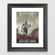 Mass Effect 3- Sentinel … Framed Art Print