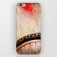 Bike Wheel:: Red Spray iPhone & iPod Skin