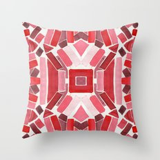 warm color pattern Throw Pillow
