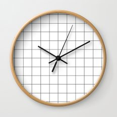 White Grid  /// www.pencilmeinstationery.com Wall Clock