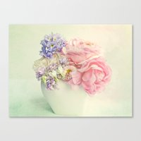 tiny spring bouquet Canvas Print