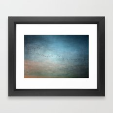 Toward The Sunset Framed Art Print