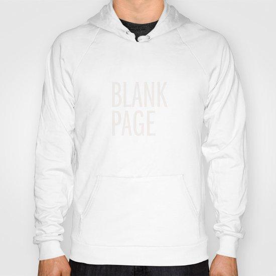 Blank Page Hoody