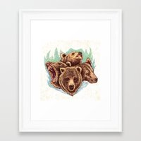Four Bears Framed Art Print