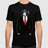 Domesticated Monkey Mens Fitted Tee Black SMALL
