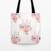 Fox & Foxgloves // Cream Tote Bag
