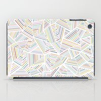 Abstraction Linear Rainb… iPad Case