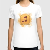 Pop Music Womens Fitted Tee White SMALL