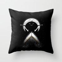 romantic moon Throw Pillow