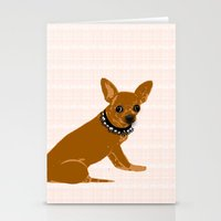 chihuahua dog as an IT technician Stationery Cards