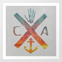 california Art Prints featuring California by Last Call