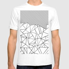 Ab Lines 45  Mens Fitted Tee SMALL White