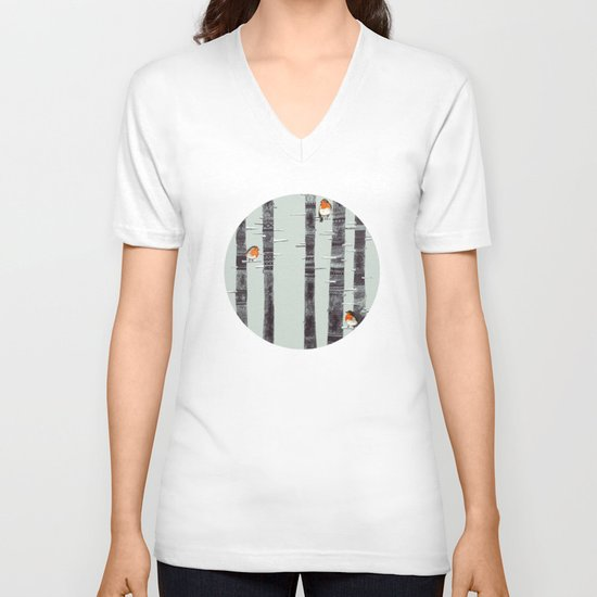 Robin Trees V-neck T-shirt