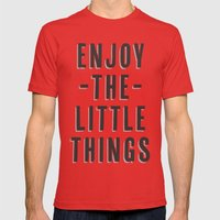 Enjoy The Little Things Mens Fitted Tee Red SMALL