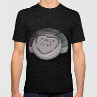 First Love Mens Fitted Tee Tri-Black SMALL