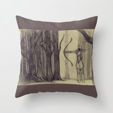 Legolas LOTR - the noisy silence of woods Throw Pillow