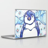 penguin Laptop & iPad Skins featuring Penguin by Kate Fitzpatrick