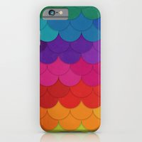 iPhone & iPod Case featuring Rainbow Scallops by Krystal Nicole