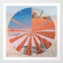 Wadi Rum vs. Tenerife Art Print