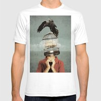 metaphorical assistance Mens Fitted Tee White SMALL