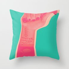 whatareyou talkinabout? Throw Pillow