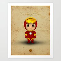 Comic Kids, Series 1 - Iron Boy Art Print