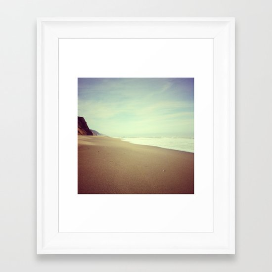 Empty Beach, Humboldt County, CA Framed Art Print