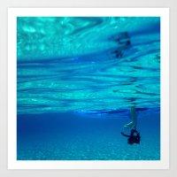 Bottomless blue Art Print