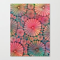 Abstract Floral Circles Canvas Print