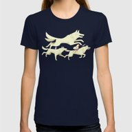 Princess Mononoke Womens Fitted Tee Navy SMALL